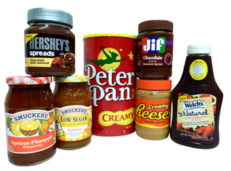 SPREADS - JAMS - PEANUT BUTTER