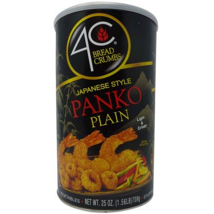 4C Breadcrumbs Japanese Style Panko Plain In A 709g Canister