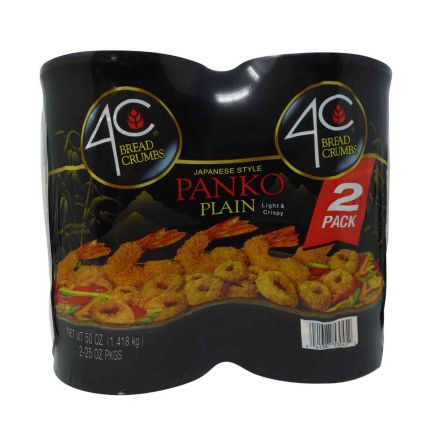 4C Foods Japanese Style Panko Plain Bread Crumbs 2 x 708g Canisters