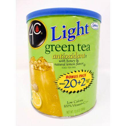 4C Light Green Tea Honey Lemon Powdered Drink Mix In A 384g Canister