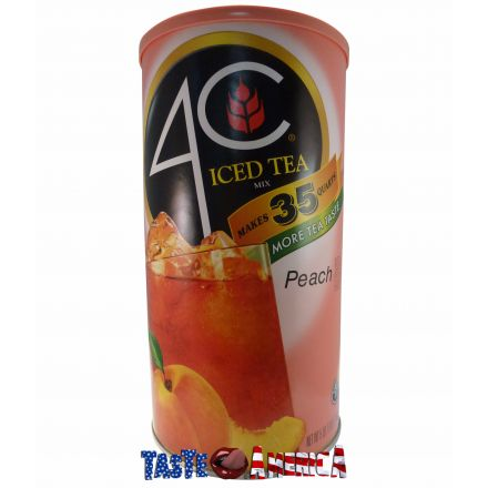 4C Peach Iced Tea Drink Mix 35 Quart Catering Size 2.34 kg