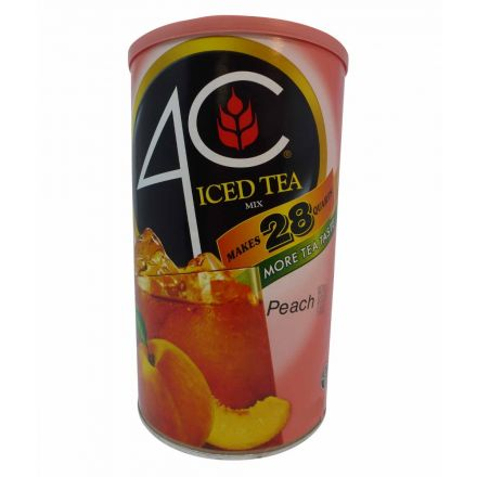 4C Peach Iced Tea Drink Mix Makes 28 Quarts In A 1.87 kg Canister