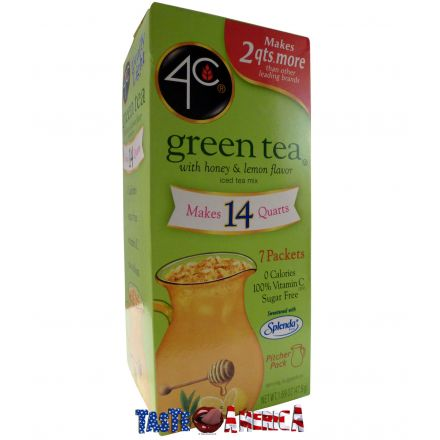 4C Totally Light Green Tea Iced Tea Mix Makes 14 Quarts 47.9g