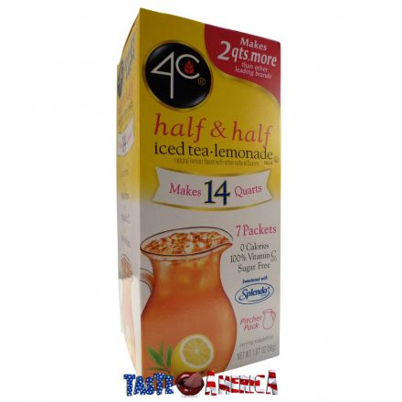 4C Totally Light Half & Half Iced Tea Lemonade Drink Mix Makes 14 Quarts 56g