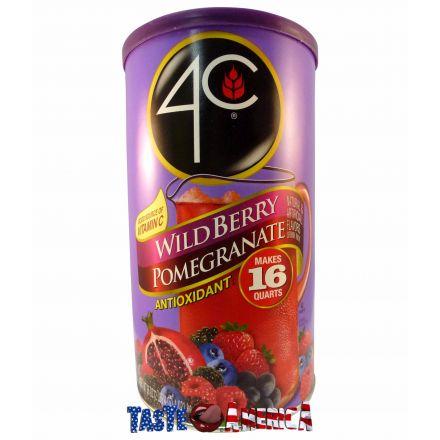 4C Wild Berry Pomegranate Powder Drink Mix Makes 16 Quarts 1.021 kg