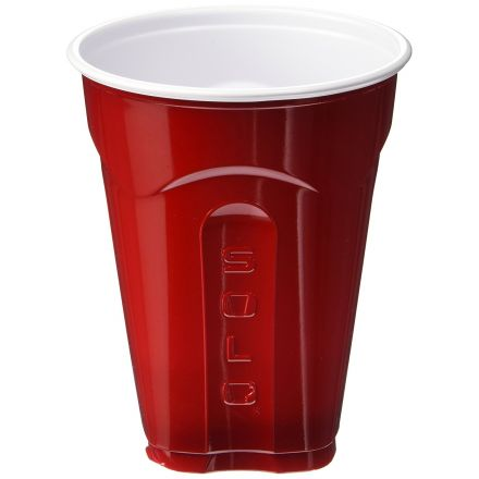 SOLO SQUARED RED CUPS LARGE 18oz / 532ml PLASTIC CUP - 116 CUP PACK