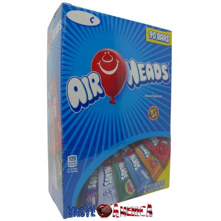 Air Heads Assorted Chewy Candy 15.6g Bars Box Of 90
