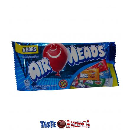Air Heads Candy Chewy Fruity Variety 6 Pack 94g