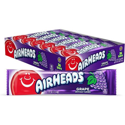 Airheads Grape Flavoured Chewy Fruity Candy Bar