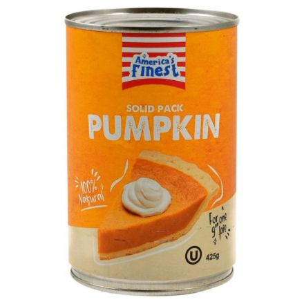 Americas Finest Solid Pack Pumpkin 425g Can
