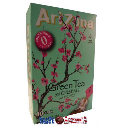 Arizona Green Tea With Ginseng And Honey 10 Sachet Drink Mix 21g