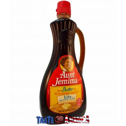 Aunt Jemima Butter Flavoured Lite Pancake Syrup 710ml