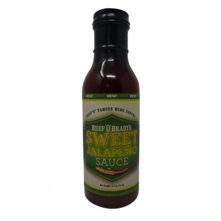Beef O Bradys Garlic Sweet Jalapeno Sauce In A 411g Bottle