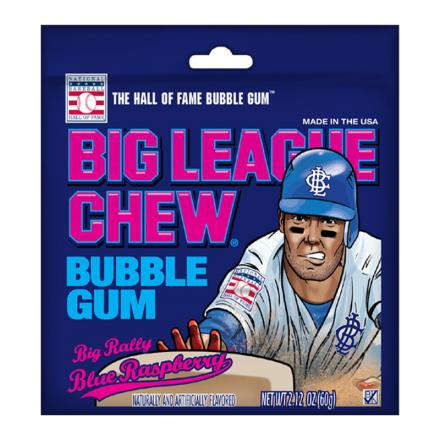 Big League Chew Big Rally Blue Raspberry Bubble Gum 60g