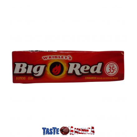 Big Red Cinnamon Flavoured Chewing Gum 5 Stick Single Pack
