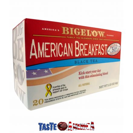 Bigelow American Breakfast Black Tea 20 Tea Bags 43g