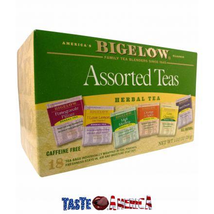 Bigelow Assorted Herbal Teas 6 Flavours 18 Tea Bags 29g