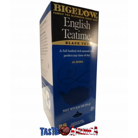 Bigelow Black Tea English Teatime 28 Tea Bags 59g