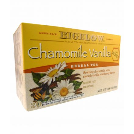 Bigelow Chamomile Vanilla & Honey 20 Herbal Tea Bags 33g