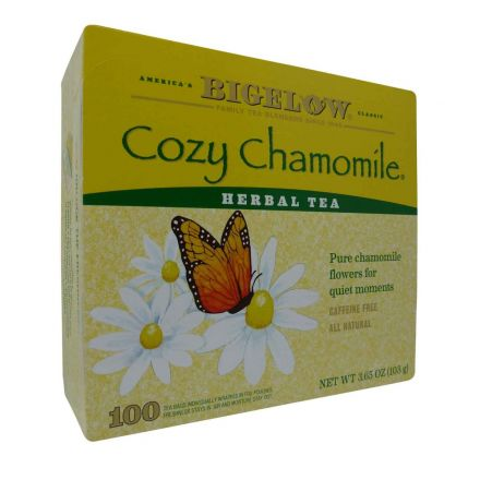 Bigelow Cozy Chamomile Tea Bags 100 Count Tea Bags In A 103g Box