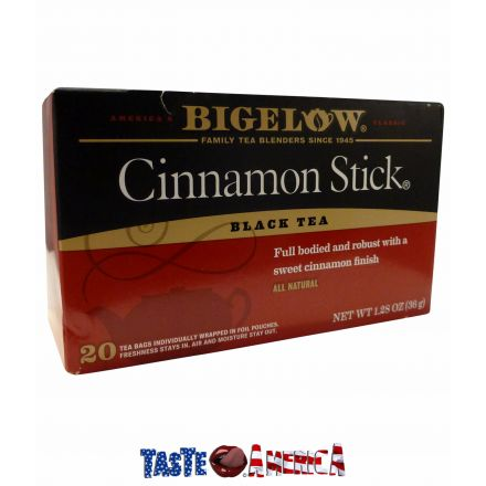 Bigelow Cinnamon Stick Black Tea 20 Bag Box 36g