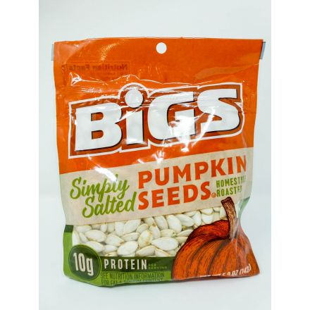 Bigs Lightly Salted Home Style Roast Pumpkin Seeds In A 142g Bag
