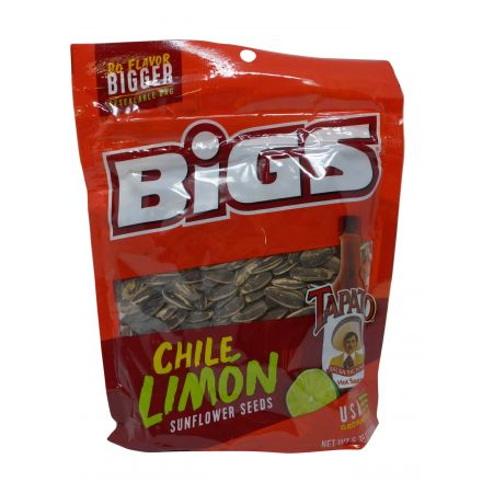 Bigs Tapatio Chile Limon Sunflower Seeds 152g