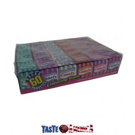 Canels Chewing Gum 5 Assorted Flavours 60 x 4ct (240 Pieces) Box 300g