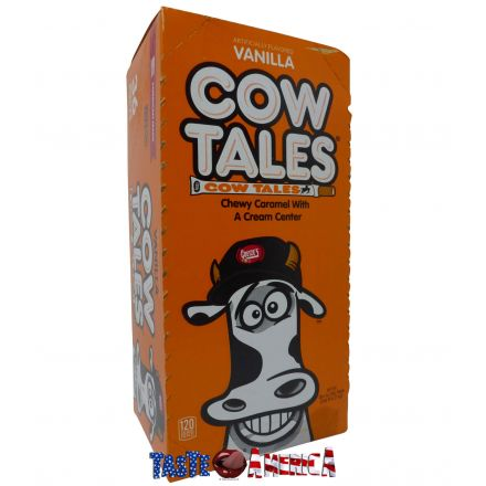 Cow Tales Vanilla Candy Chewy Caramel With A Cream Center 36 Pack 1kg