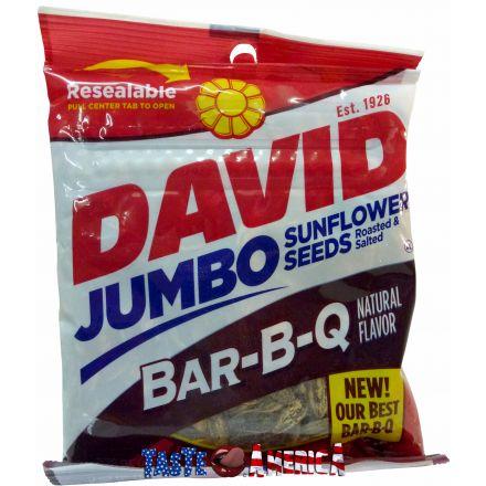 David Bar-B-Q Flavour Roasted And Salted Jumbo Sunflower Seeds 149g