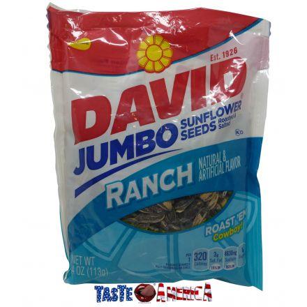 David Jumbo Roasted & Salted Ranch Sunflower Seeds 113g