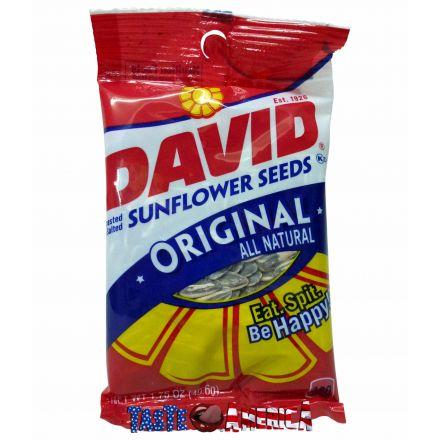 David Original Roasted & Salted Sunflower Seeds 49.6g Bag