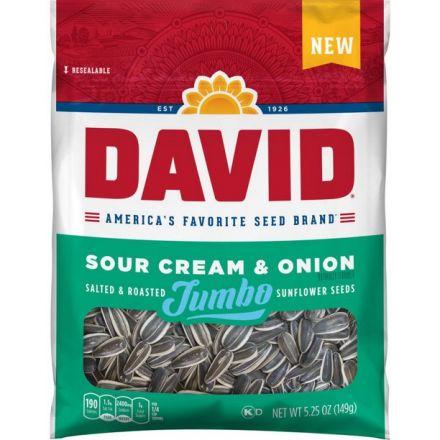 David Salted & Roasted Jumbo Sunflower Seeds Sour Cream & Onion