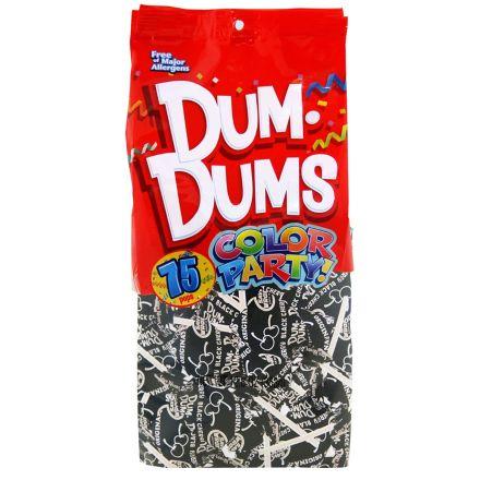 Dum Dums Color Party Original Pops Black Cherry 75 Lollipops 363g Bag