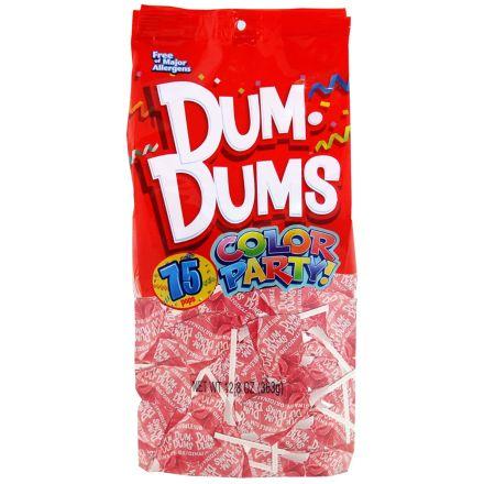 Dum Dums Color Party Original Pops Bubble Gum Light Pink 75 Lollipops 363g Bag