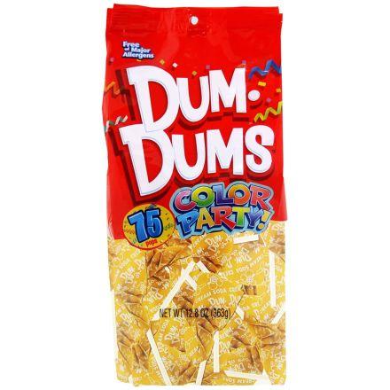 Dum Dums Color Party Original Pops Cream Soda Yellow 75 Lollipops 363g Bag