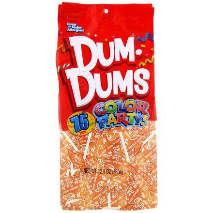 Dum Dums Color Party Original Pops Orange 75 Lollipops 363g Bag