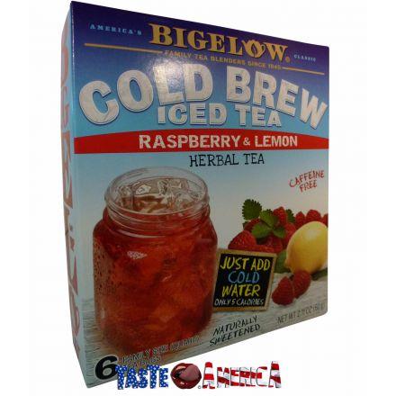 Bigelow Cold Brew Iced Tea Raspberry & Lemon Makes 6 Quarts 60g