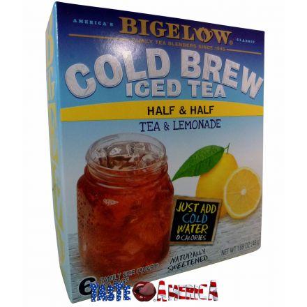 Bigelow Cold Brew Iced Tea Half & Half Tea & Lemonade Makes 6 Quarts 48g