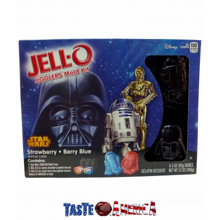 Jell-O Star Wars Jigglers Mold Kit Contains 4 Jell-O Dessert & 2 Star Wars Trays