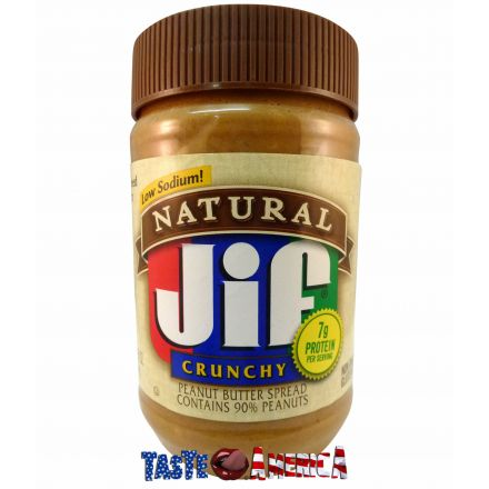 Jif Natural Crunchy Peanut Butter 454g Jar