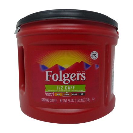 Folgers Half Caff Medium Roast Ground Coffee In A 720g Canister