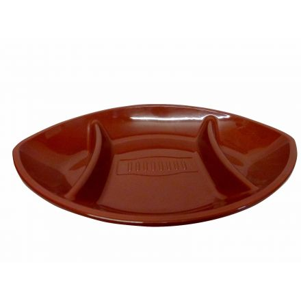 American Football Shaped Plastic Chip N Dip Serving Tray For Snacks And Dips