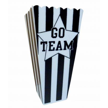 Go Team Plastic Popcorn Tub