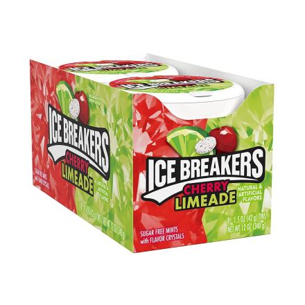 Ice Breakers Cherry Limeade Sugar Free Mints With Flavour Crystals