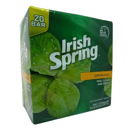 Irish Spring Original Deodorant Soap 20 x 104.8g Bars In A 2.1 kg Multi-Pack