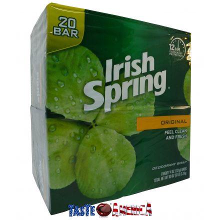 Irish Spring Original Deodorant Soap 20 x 113g Bars - 2.3 kg
