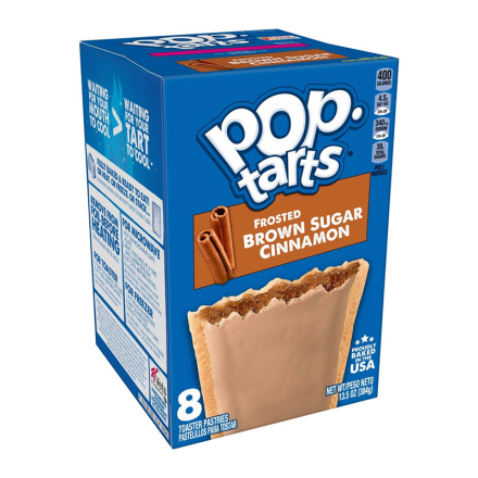 Kelloggs Pop-Tarts Frosted Brown Sugar Cinnamon Toaster Pastries 8 Pack 384g