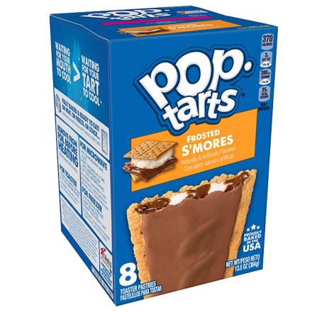 Kelloggs Pop-Tarts Frosted Smores Toaster Pastries 8 Pack 384g