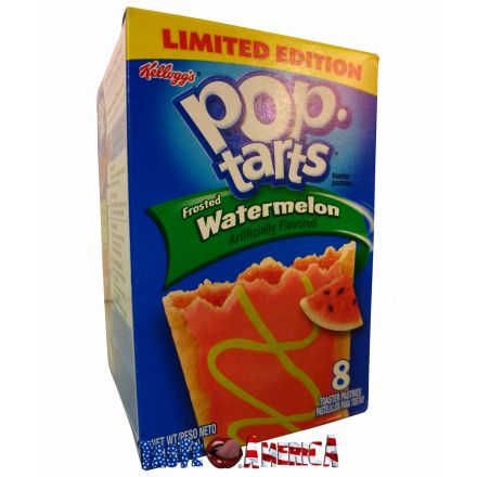 Kelloggs Pop-Tarts Frosted Watermelon 8 x Toaster Pastries 400g